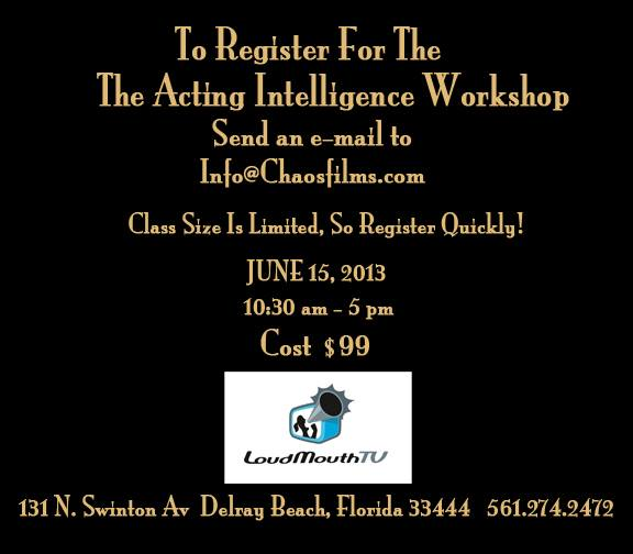 Acting Intelligence Workshop